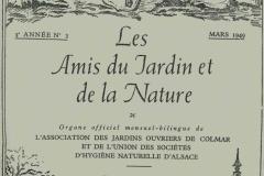 Revue mensuel-bilingue les amis du jardin et de la nature 1949